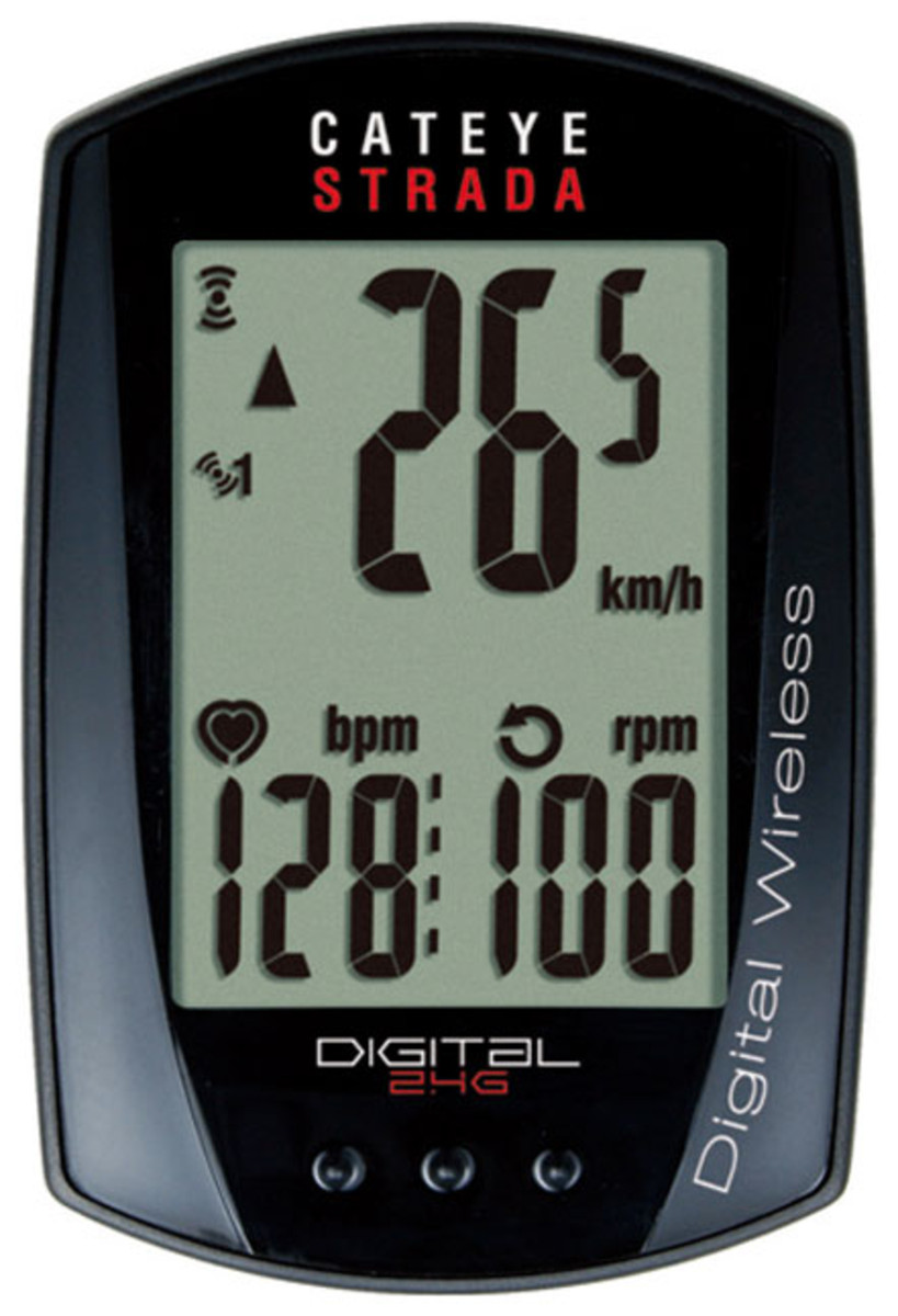 CatEye Strada Digital Triple Wireless Spd Cdc Hr CC-RD410DW